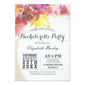 Elegant Watercolor Floral Bachelorette Party invit 13 Cm X 18 Cm Invitation Card