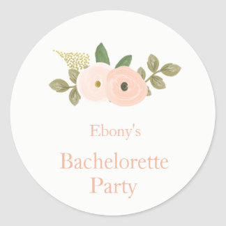 Elegant Watercolor Floral Bachelorette Sticker