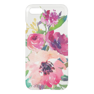 Elegant Watercolor Floral Pink Red Roses Uncommon iPhone 8/7 Case