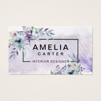 Elegant Watercolor Girly Floral business cards