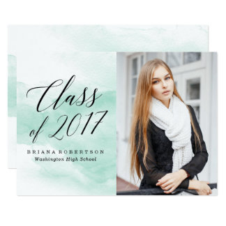 Elegant Watercolor Graduation Announcement