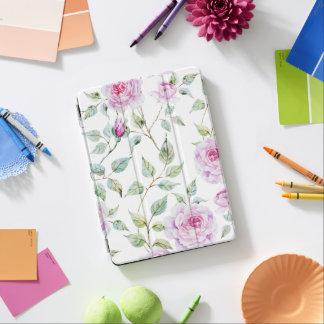 Elegant Watercolor Leaves and Roses iPad Air Case iPad Air Cover