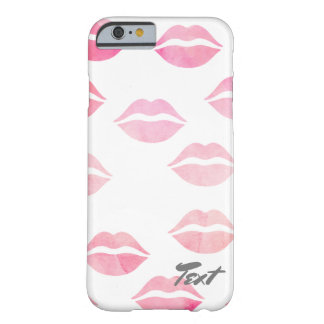 elegant watercolor pink lips pattern barely there iPhone 6 case