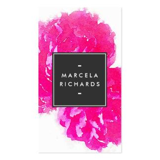 Elegant Watercolor Pink Peonies II Pack Of Standard Business Cards