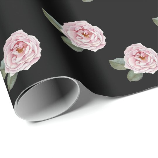 Elegant watercolor Roses Gift Wrapping Paper