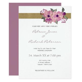 Elegant Watercolour Floral Wedding Invitation