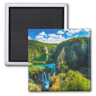 Elegant waterfall scenic, Croatia Magnet