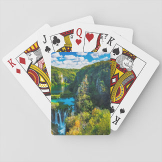 Elegant waterfall scenic, Croatia Playing Cards