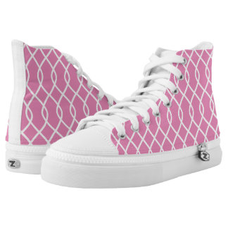 Elegant wave pattern - pink - High top shoes Printed Shoes