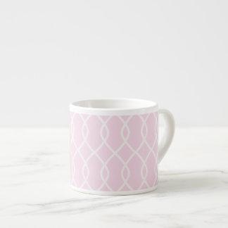 ELEGANT WAVE PATTERN - SOFT PINK Espresso Mug