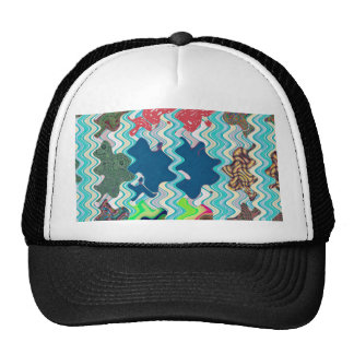 Elegant waves colorful abstract art ideal rainbow cap