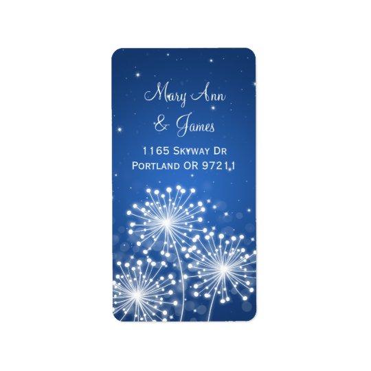 Elegant Wedding Address Summer Sparkle Sapphire Address Label