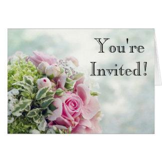 Elegant Wedding Bouquet Invitation Card
