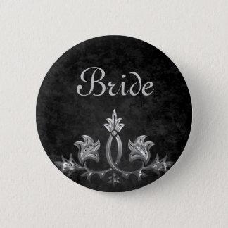 Elegant wedding Bride 6 Cm Round Badge