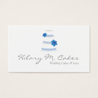 Elegant Wedding Cake Designer Business Card