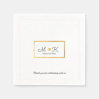 elegant wedding celebration reception white disposable napkin