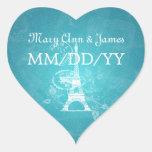 Elegant Wedding Date Romantic Paris Blue