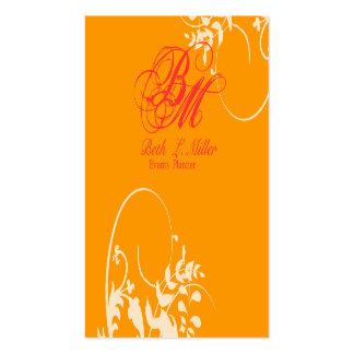 Elegant Wedding Fantasy Artistic Floral Swirls Pack Of Standard Business Cards