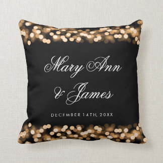Elegant Wedding Favor Gold Hollywood Glam Throw Cushion