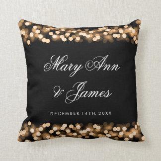 Elegant Wedding Favor Gold Hollywood Glam Throw Pillow