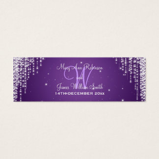 Elegant Wedding Favor Tag Night Dazzle Purple Mini Business Card