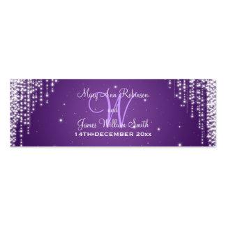Elegant Wedding Favor Tag Night Dazzle Purple Pack Of Skinny Business Cards
