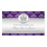 Elegant Wedding Favour Tag Royal Crown Purple