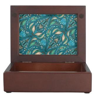 Elegant wedding floral rustic beautiful pattern keepsake boxes