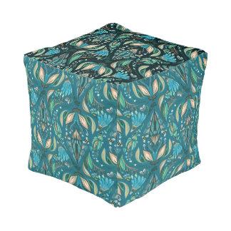 Elegant wedding floral rustic beautiful pattern pouf