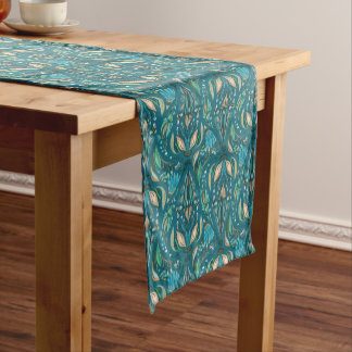 Elegant wedding floral rustic beautiful pattern short table runner