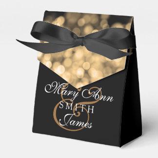 Elegant Wedding Gold Lights Party Favor Boxes
