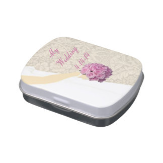Elegant Wedding Gown Candy Tin