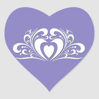 Elegant Wedding Heart Sticker