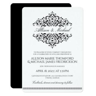 Elegant Wedding Invitation | Charlene (Black)