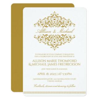 Elegant Wedding Invitation | Charlene (Gold)