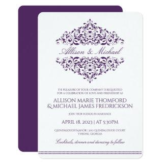 Elegant Wedding Invitation | Charlene (Plum)
