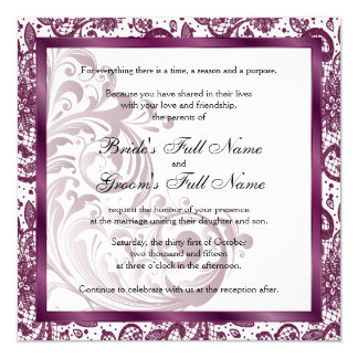 Elegant Wedding Invitation - Purple