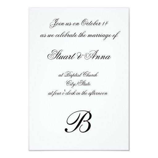 Elegant Wedding Invitation Design: Elegant Wedding Invitation With Monogram Design
