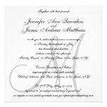 Elegant Wedding Invitations Monogram Initial Names
