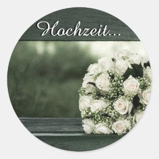 Elegant Wedding Invitations Round Sticker