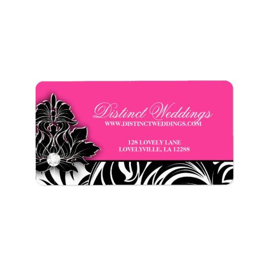 Elegant Wedding Label Jewellery Logo Pink