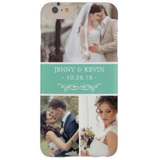 Elegant Wedding Memento Instagram Photo Collage Barely There iPhone 6 Plus Case