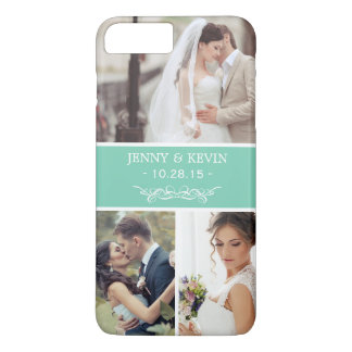 Elegant Wedding Memento Instagram Photo Collage iPhone 7 Plus Case