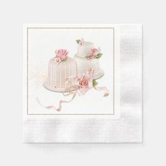 wedding cake napkins. Black Bedroom Furniture Sets. Home Design Ideas