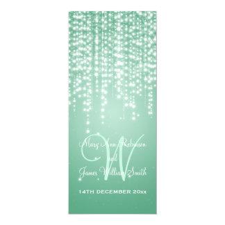 Elegant Wedding Night Dazzle Mint Green 10 Cm X 24 Cm Invitation Card