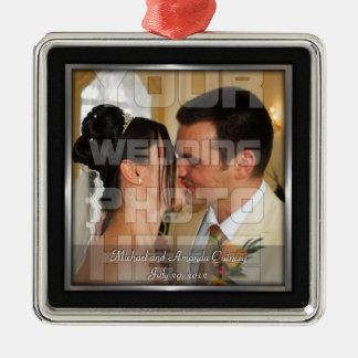 Elegant Wedding Photo Ornament