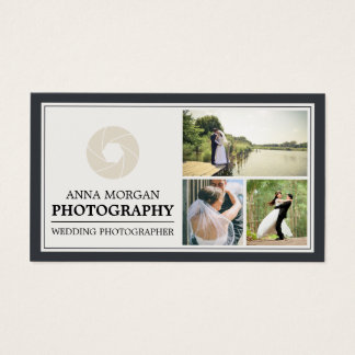 Elegant Wedding Photographer Photography Business Card