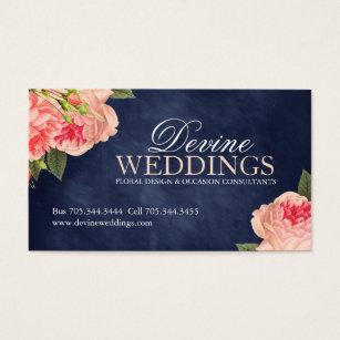 Flower decoration business cards business card printing zazzle elegant wedding planner business cards junglespirit Gallery