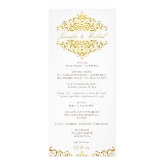 Elegant Wedding Program | Charlene Faux Gold Foil Rack Card