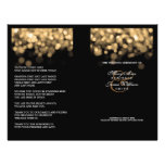 Elegant Wedding Program Gold Lights 21.5 Cm X 28 Cm Flyer